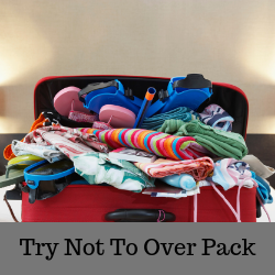 Try Not to over Pack